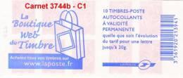 France  Carnet  Yvert & Tellier N° 3744b -C -1 - Carnets
