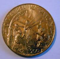Vatican PAPAL JONH  PAUL II 200  LIRE RARE 1999 - Vatican