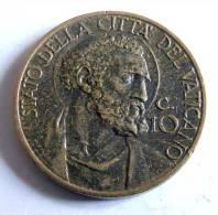 Vatican PAPAL PIUS XII  10 CENTESIMI RARE 1939   RARE QFDC EF\AU - Vatican