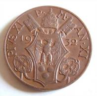 Vatican PAPAL PIUS X  10 CENTESIMI RARE 1932  RARE FDC UNC - Vatican