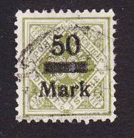 Wurttemberg, Scott # O70, Used, Number Surcharged, Issued 1923 - Wurttemberg