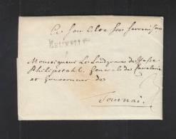 Lettre Bruxelles Tournai - 1830-1849 (Belgique Indépendante)