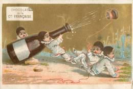 Chromos Réf. A988. Chocolat De La Compagnie Française - Champagne, Pierrot, Bouchon - Chocolate