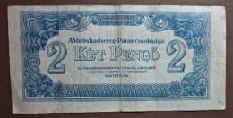Banknote Papermoney Ungarn Magyar Gebraucht 2 Pengö 1944 - Hungary