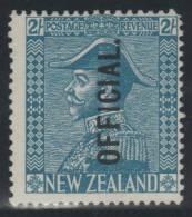 NUEVA ZELANDA 1927/28 - Yvert #65 (Servicio) - MLH * - 1907-1947 Dominion