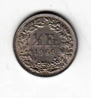 Pièce - Suisse - 1/2 Franc - 1969 - Suiza