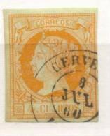Año 1860 Edifil 52 4c Isabel II  Matasellos Cervera  Lerida - 1850-68 Royaume: Isabelle II