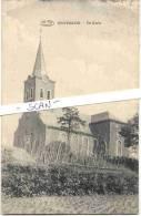 BEVERLOO-BEVERLO-BERINGEN -DE KERK-PHOTO MEULEMAN-RETHY-PREAUX A GHLIN-UITERST ZELDZAME KAART-VERZONDEN 1921-ZIE 3 SCANS - Beringen