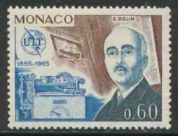 Monaco 1965 Mi 805 YT 671 ** Edouard Belin (1876-1963) Wirephoto Or Telephotography / Belinograph - Telecom