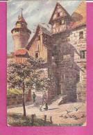 NÜRNBERG   -   ** BURGEINGANG VESTNERT **Gemälde Von CHARLES E. FLOWERS    -   Verlag : OILETTE    N°7581. - Nuernberg
