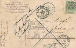 697/20 - Carte TP Armoirie BRUXELLES 1906 Vers TOURNAI - Refusé , BXL FACTEURS , Griffes Retour à L´ Envoyeur Et REBUT - Poststempel