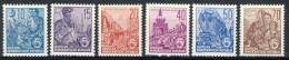 "1955 German Democratic Republic  Cplt. MNH (**) Set Of 6 Stamps"" Workers 5 Year Plan ""Michel 453-58 - [6] Democratic Republic"