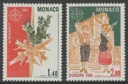 Monaco 1981 Mi 1473 /4 YT 1273 /4 ** Palm Cross + Children Carrying Palm Crosses - Easter / Paques / Palmsonntag - Monaco
