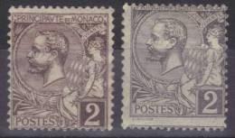 MONACO -- 1891 -- N° 12 Violet Brun  Et 12   Variété Couleur Grise Neufs Avec Charnière. - Variétés