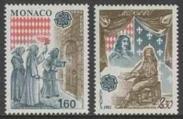 Monaco 1982 Mi 1526 /7 YT 1322 /3 ** Capture Of Monaco Fortress (1297) + Signing Treaty Of Peronne (1641) - Europa Cept - Monaco