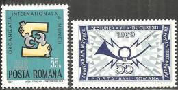 Romania 1969 Nuovo** - Mi.2763;2766  Yv.2460;2463 - Nuovi