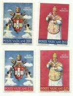 1959 - Vaticano 250/53 Papa Giovanni XXIII - Celebrità