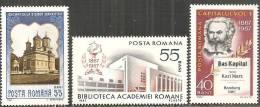 Romania 1967 Nuovo** - Mi.2619;2628/29  Yv.2336/38 - 1948-.... Republics