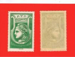 FRANCE Radiodiffusion 1937 N° 3 Vert **, Neuf Sans Charnière, Très Très Beau - Radiodifusión