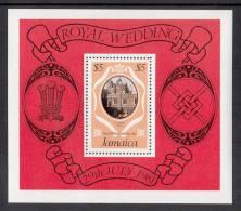 Jamaica MNH Scott #503a Souvenir Sheet $5 St. James´s Palace - Royal Wedding Charles And Diana - Jamaique (1962-...)