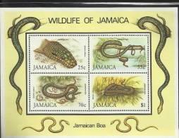 JAMAICA 1984  WWF Boa  S/S - W.W.F.
