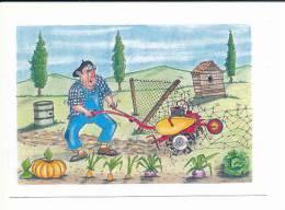 CPM / Humour Jardinage / Jardinier Et Motoculteur / Jardin  //  CP 8/429 - Humour
