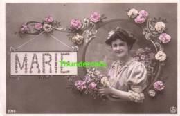 RPPC REAL PHOTO POSTCARD NAME NAMESDAY ** MARIE  ** CPA CARTE FEMME PRENOM NOM - Prénoms