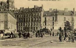 CPA 35 RENNES PLACE ET CROIX DE LA MISSION GF 1034 - Rennes