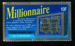 FRANCAISE DES JEUX - MILLIONNAIRE 02601 - Billets De Loterie