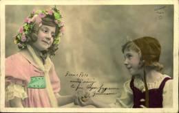 N°233 Y PETITES FILLES 1905 SE TENANT PAR LA MAIN STEBBING PARIS ETOILE P P A T - Groupes D'enfants & Familles