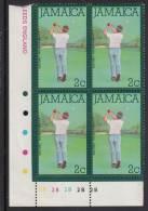 Jamaica MNH Scott #466 Lower Left Inscription Block 2c Golfing - Jamaique (1962-...)