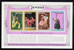 Jamaica MNH Scott #386a Souvenir Sheet Of 4 Different Dancers - National Dance Theatre Company - Jamaique (1962-...)