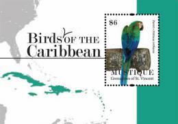 sgm1109ss Mustique St. Vincent 2011 Birds s/s Parrot