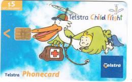 AUSTRALIA(chip) - Telstra Child Flight, Exp.date 31/01//05, Used - Australia