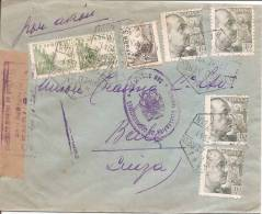 España 1941. Correo Aereo De San Sebastian A Basilea. Censura. - Marcas De Censura Nacional