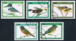 Cuba - Oiseaux 3525/3529 Oblit. - Collections, Lots & Séries