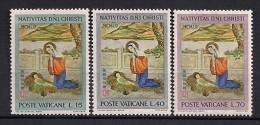 VATICANO 1961, YVERT 341/343 **,  NAVIDAD - Vaticano (Ciudad Del)