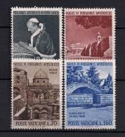 VATICANO 1964, YVERT 393/396 **, VIAJE DEL PAPA PABLO VI A TIERRA SANTA - Vaticano (Ciudad Del)
