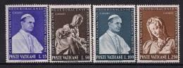 VATICANO 1964, YVERT 401/404 **, PARTICIPACIÓN DEL VATICANO EN LA EXPOSICIÓN INTERNACIONAL DE NUEVA YORK - Vaticano (Ciudad Del)