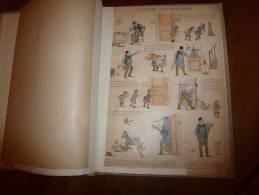 Recueil Ancien De 19 Planches(genre Image D´ Epinal) Signées : Firmin Bouisset, Steinlen, Caran D ´Ache, Job, Etc....... - Livres, BD, Revues
