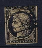 France:  1849  Yv. 3 B  Chamois  Used / Obl.
