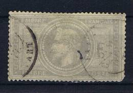 France:  1863  Yv. 33   Used / Obl., Has A Small Thin Spot. - 1863-1870 Napoleon III With Laurels