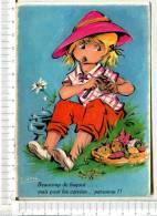 FILLETTE épluchant Les Légumes  - Beaucoup De Bagout....   Mais Pour Les Corvées, Personne  !! - CARTE PHOTOCHROM - Cartes Humoristiques