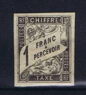 Colonies France: Timbre Tax Yv 12 MH/*