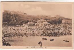Old Postcard, Beach Folkestone (pk9797) - Folkestone