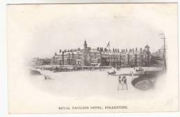 Old Postcard, Royal Pavilion Hotel Folkestone (pk9800) - Folkestone
