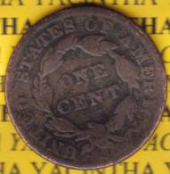 @Y@  USA 1 Large Cent 1835 Coronet Head  (2571) - 1816-1839: Coronet Head