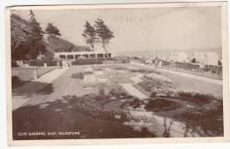 Old postcard, Cliff Gardens, east, Felixtowe (pk9804)