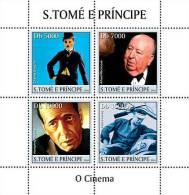 S. TOME & PRINCIPE 2004 - Actors Of Cinema - Mi 2507-10, YT 1838-41 - Cinema