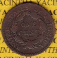 @Y@  USA 1 Large Cent 1817 Coronet Head (2579) 13 Stars - Federal Issues